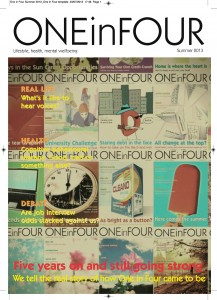 The cover of One in Four Summer 2013 - A mosaic of previous covers