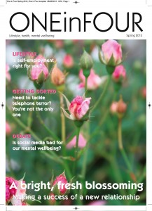 The front cover of One in Four spring 2013